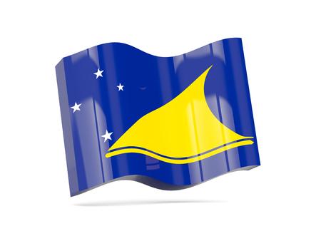 tokelau: Wave icon with flag of tokelau. 3D illustration