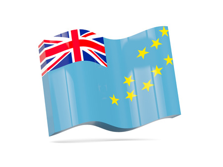 tuvalu: Wave icon with flag of tuvalu. 3D illustration Stock Photo