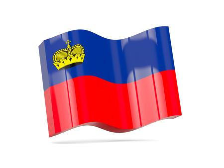 liechtenstein: Wave icon with flag of liechtenstein. 3D illustration