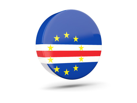 verde: Round icon with flag of cape verde. 3D illustration Stock Photo