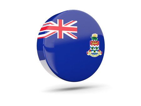 cayman islands: Round icon with flag of cayman islands. 3D illustration