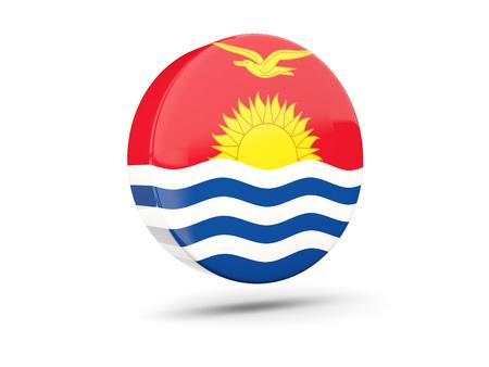 kiribati: Round icon with flag of kiribati. 3D illustration