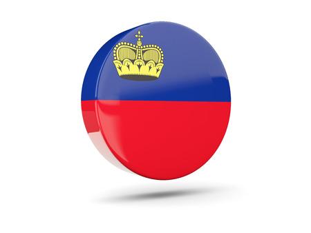 liechtenstein: Round icon with flag of liechtenstein. 3D illustration