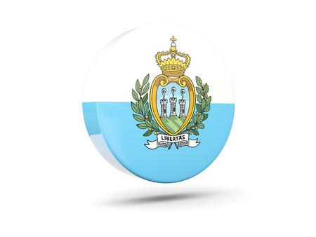 san marino: Round icon with flag of san marino. 3D illustration