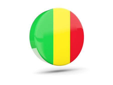 mali: Round icon with flag of mali. 3D illustration Stock Photo