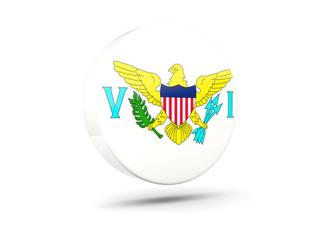 virgin islands: Round icon with flag of virgin islands us. 3D illustration