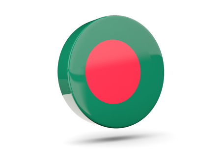 bangladesh 3d: Round icon with flag of bangladesh. 3D illustration Stock Photo