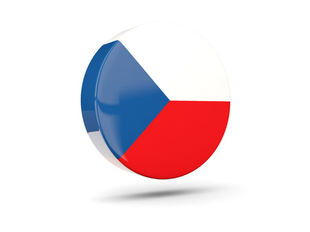 the czech republic: Round icon with flag of czech republic. 3D illustration Stock Photo