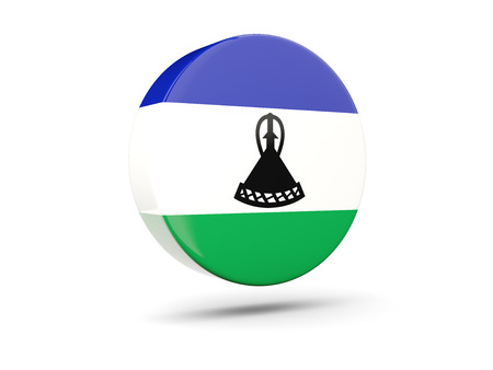lesotho: Round icon with flag of lesotho. 3D illustration