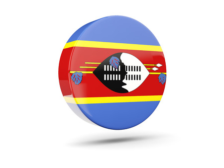 swaziland: Round icon with flag of swaziland. 3D illustration