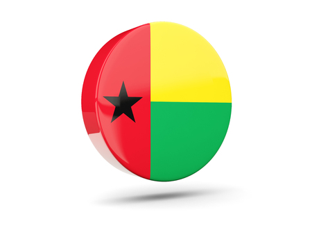 guinea bissau: Round icon with flag of guinea bissau. 3D illustration