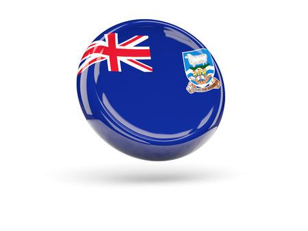 falkland: Flag of falkland islands, round icon. 3D illustration