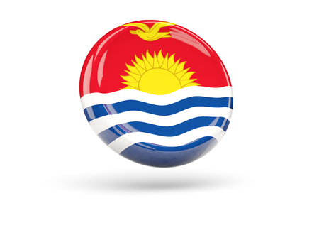 icon 3d: Flag of kiribati, round icon. 3D illustration