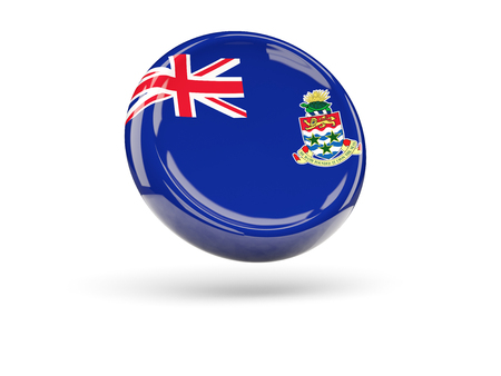 cayman islands: Flag of cayman islands, round icon. 3D illustration