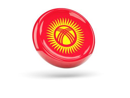 kyrgyzstan: Flag of kyrgyzstan, round icon. 3D illustration