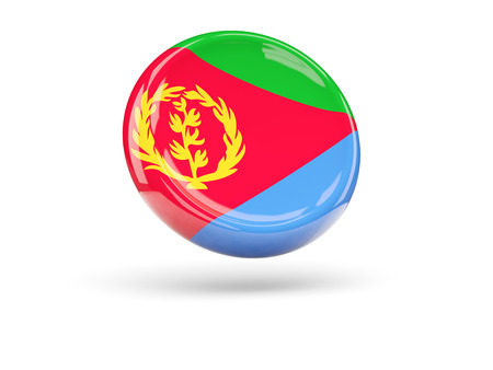 eritrea: Flag of eritrea, round icon. 3D illustration
