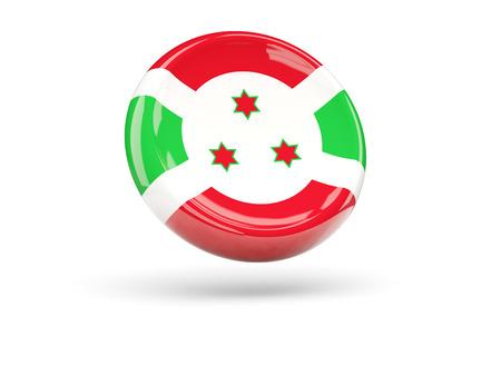 burundi: Flag of burundi, round icon. 3D illustration Stock Photo