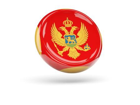 montenegro: Flag of montenegro, round icon. 3D illustration