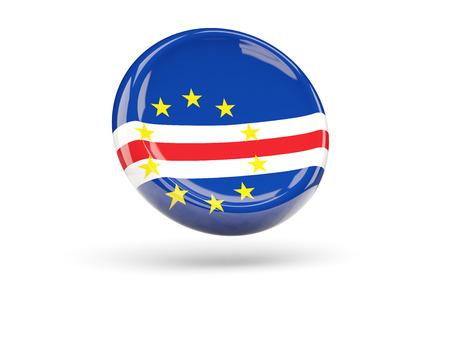 cape verde flag: Flag of cape verde, round icon. 3D illustration