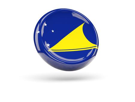 tokelau: Flag of tokelau, round icon. 3D illustration Stock Photo