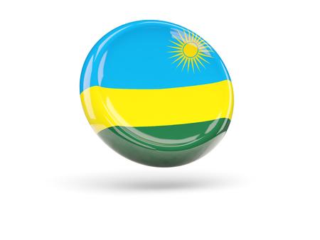 rwanda: Flag of rwanda, round icon. 3D illustration