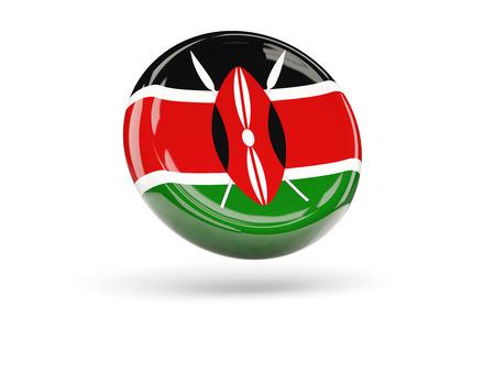 kenya: Flag of kenya, round icon. 3D illustration
