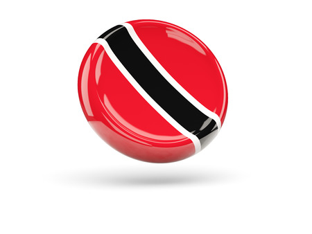 trinidad and tobago: Flag of trinidad and tobago, round icon. 3D illustration