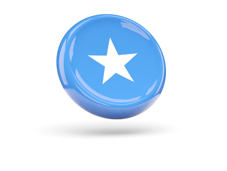 icon 3d: Flag of somalia, round icon. 3D illustration