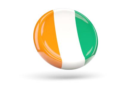 cote d ivoire: Flag of cote d Ivoire, round icon. 3D illustration