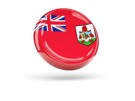 bermuda: Flag of bermuda, round icon. 3D illustration Stock Photo