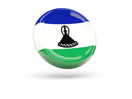 lesotho: Flag of lesotho, round icon. 3D illustration