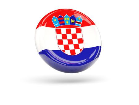 croatia: Flag of croatia, round icon. 3D illustration Stock Photo