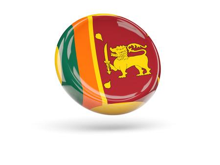 sri lanka: Flag of sri lanka, round icon. 3D illustration