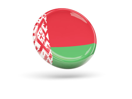 icon 3d: Flag of belarus, round icon. 3D illustration Stock Photo