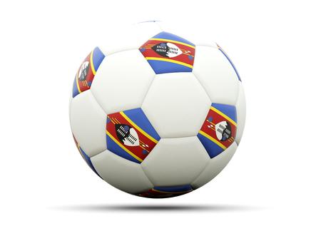 swaziland: Flag of swaziland on football, isolated on white. 3D illustration
