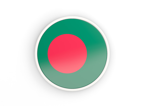 national flag bangladesh: Flag of bangladesh. Round icon with white frame.3D illustration