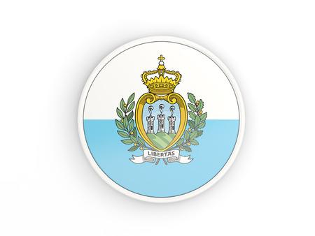 san marino: Flag of san marino. Round icon with white frame.3D illustration Stock Photo