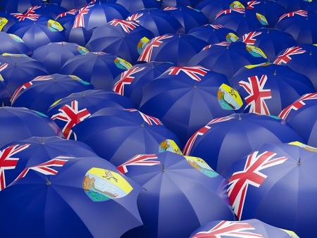helena: Flag of saint helena on umbrella. 3D illustration