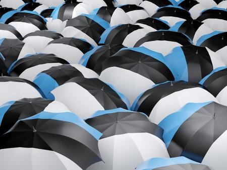 estonia: Flag of estonia on umbrella. 3D illustration Stock Photo