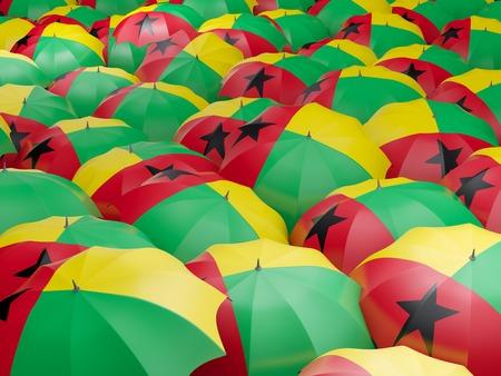 Flag of guinea bissau on umbrella. 3D illustration Stock Photo