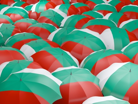bulgaria: Flag of bulgaria on umbrella. 3D illustration