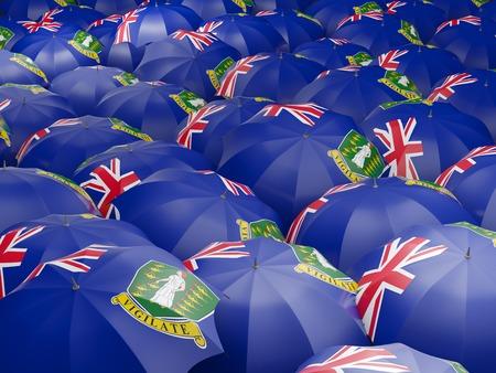british weather: Flag of virgin islands british on umbrella. 3D illustration