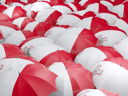 malta: Flag of malta on umbrella. 3D illustration Stock Photo