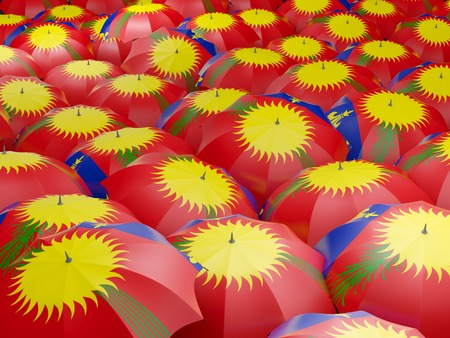 guadeloupe: Flag of guadeloupe on umbrella. 3D illustration