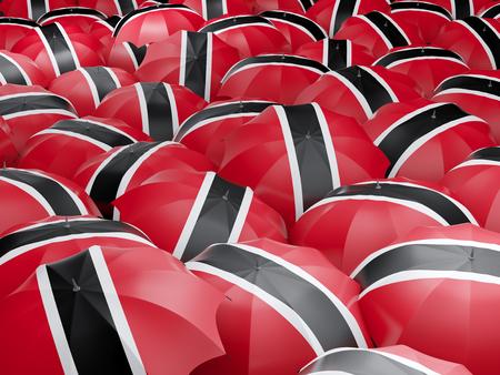 national flag trinidad and tobago: Flag of trinidad and tobago on umbrella. 3D illustration