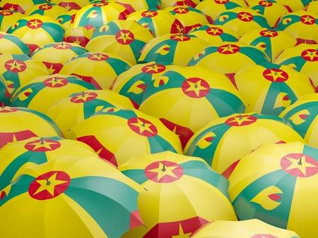grenada: Flag of grenada on umbrella. 3D illustration