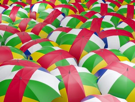 Flag of central african republic on umbrella. 3D illustration