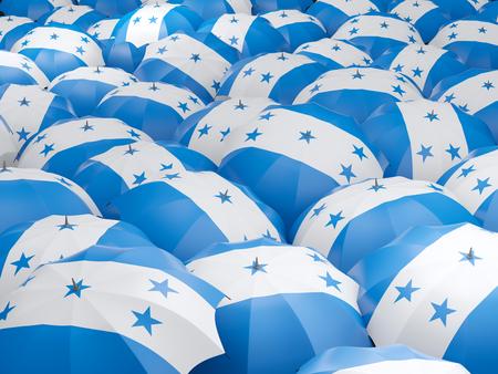 honduras: Flag of honduras on umbrella. 3D illustration