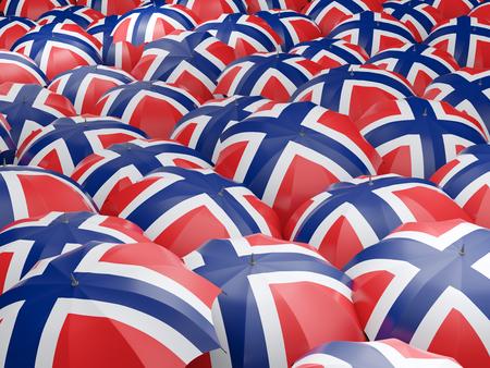 norway flag: Flag of norway on umbrella. 3D illustration