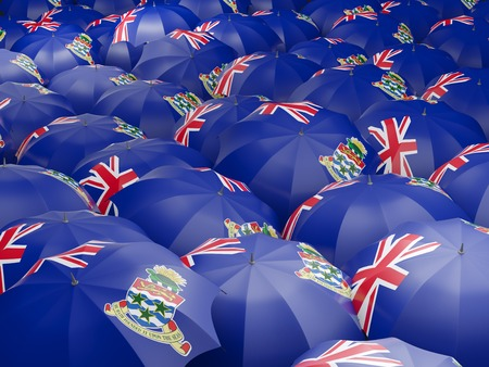 cayman islands: Flag of cayman islands on umbrella. 3D illustration